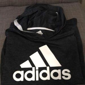 Adidas hooded long sleeve tee
